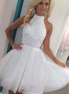 New Homecoming Dresses Scoop Short/Mini Tulle With Beading
