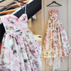 Ball Gown Printed Satin Sweetheart Sleeveless Wedding Dress JS684