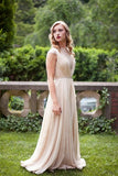 A-line Chiffon Long Simple High Neck Prom Dresses UK Floor-length Ruched with Cap Sleeves JS295