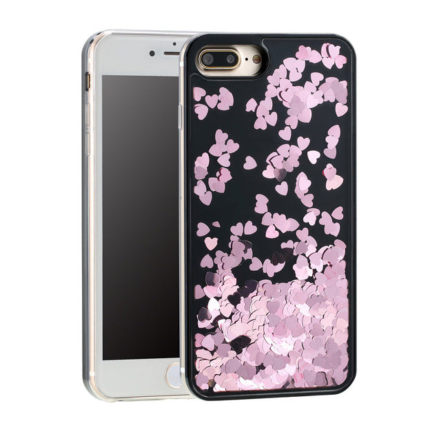Glitter Hearts IPhone Case - Modern Charme.