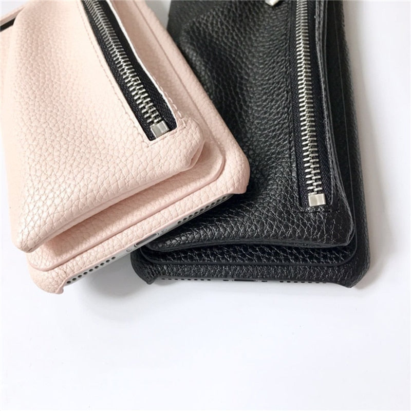 Leather Wallet IPhone Case - Modern Charme.