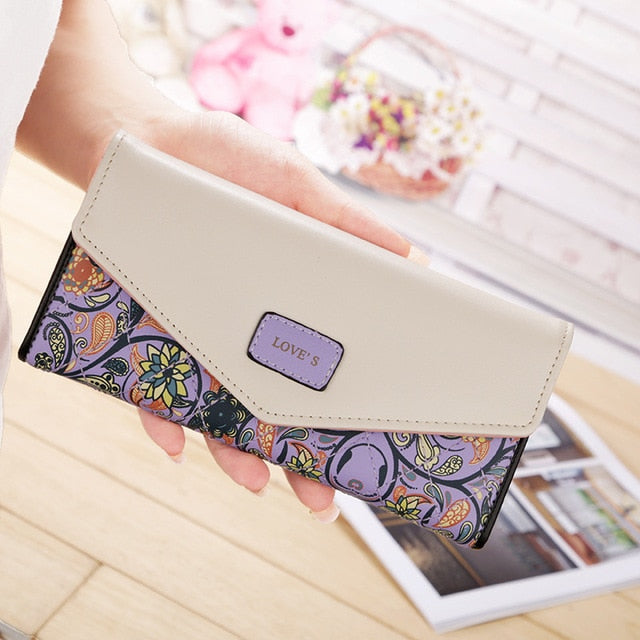 Leather Design Printed Clutch - Modern Charme.