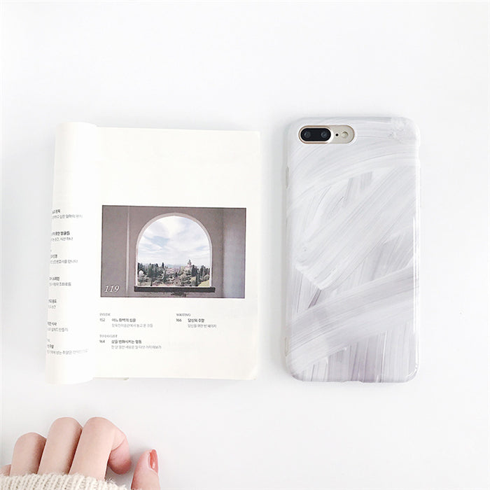 Painted Glossy IPhone Case - Modern Charme.