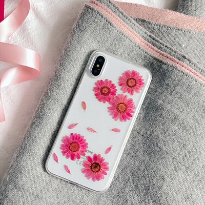 Pink Daisy IPhone Case - Modern Charme.