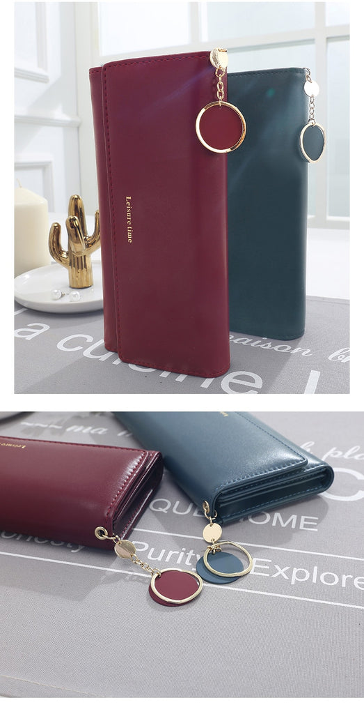 Multi-Functional Leather Wallet - Modern Charme.