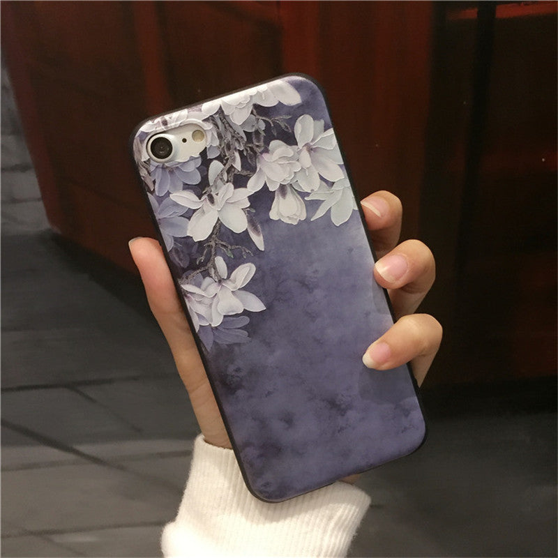 Orchid Blue Silicone IPhone Case - Modern Charme.
