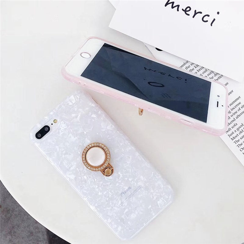 Pearl Ring Grip IPhone Case - Modern Charme.