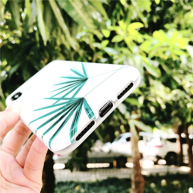Summer Cool Leaves IPhone Case - Modern Charme.