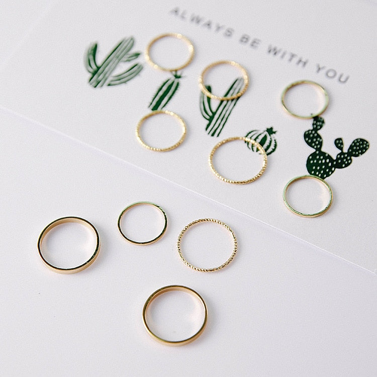 10Pcs/Set Vintage Design Rings - Modern Charme.