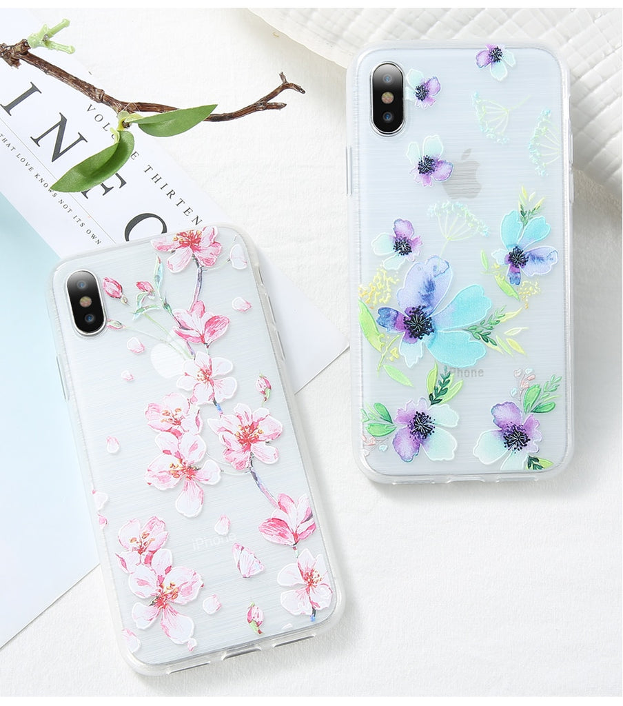 Retro Florals IPhone Case - Modern Charme.