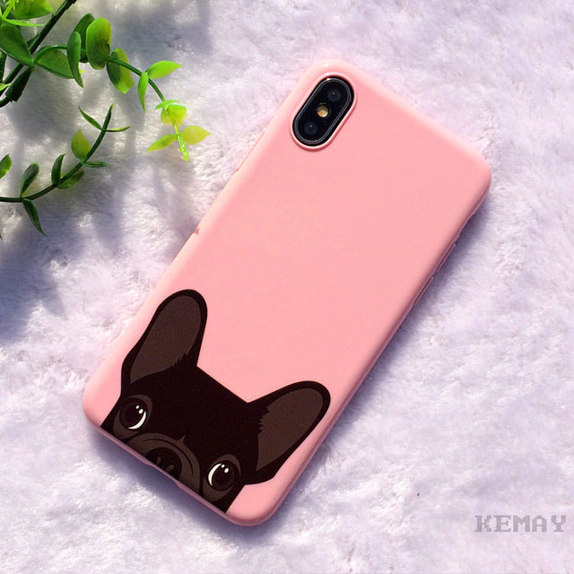 Pink/Red French Bulldog IPhone Case - Modern Charme.