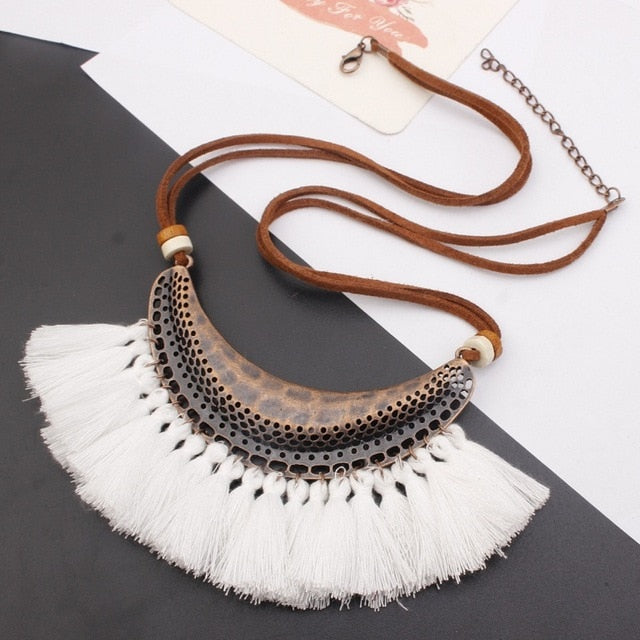 Bohemia Long Statement Necklace - Modern Charme.