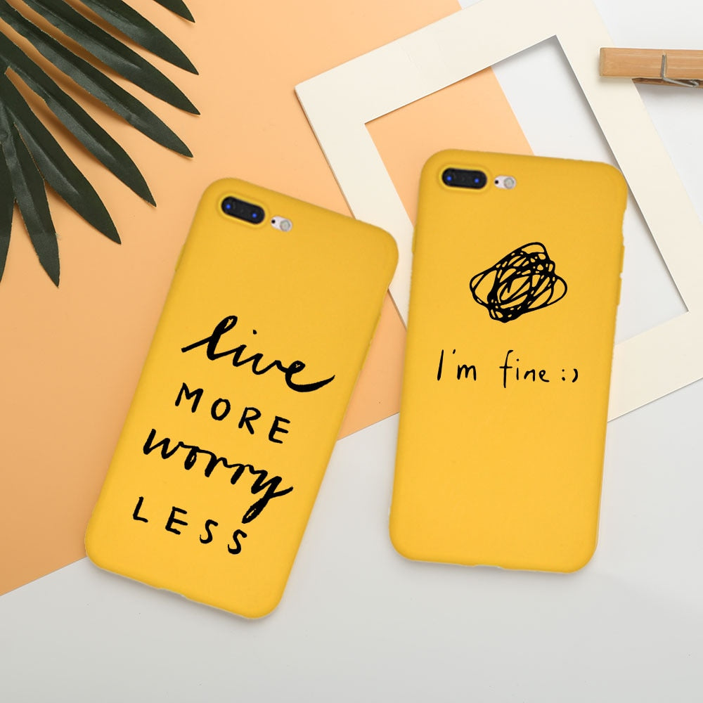 Live More Worry Less IPhone Case - Modern Charme.