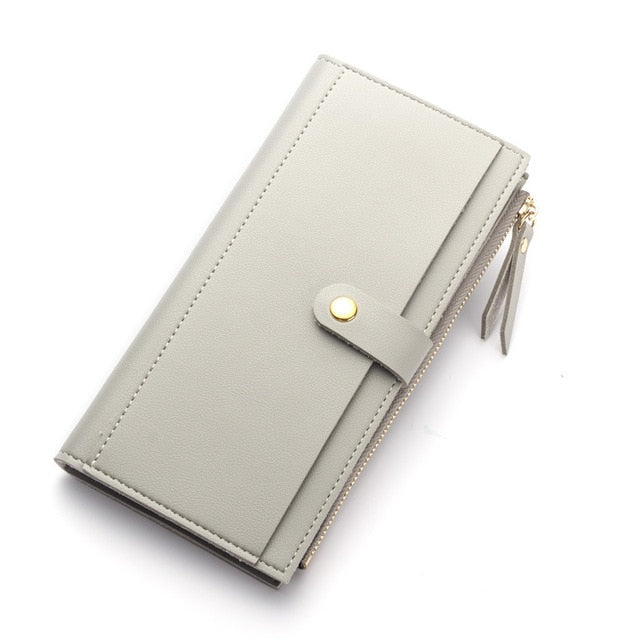 Leather Clutch Wallet - Modern Charme.