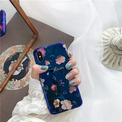 Gardenia Soft Silicone IPhone Case - Modern Charme.