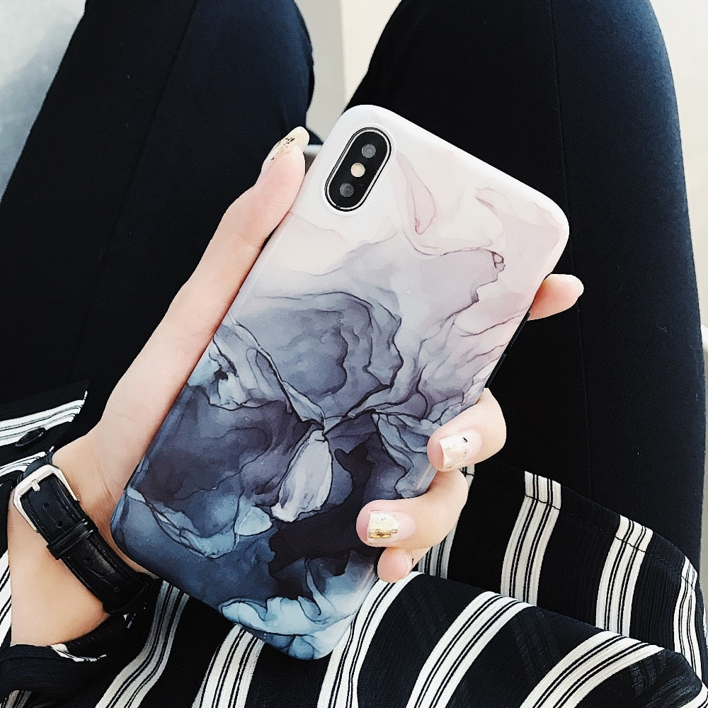 Deep Water Colors IPhone Case - Modern Charme.