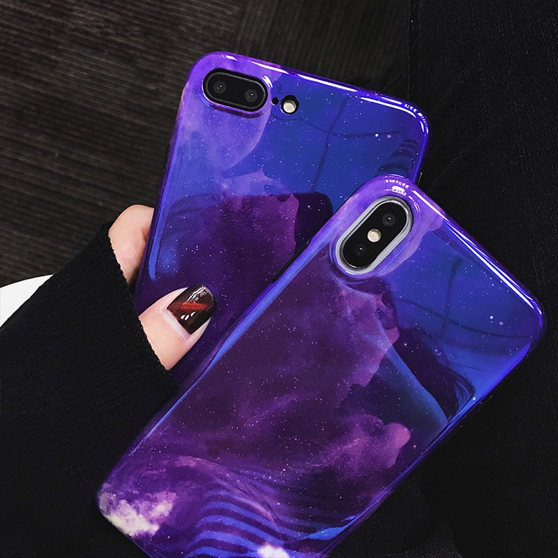 Violet Starry Night IPhone Case - Modern Charme.