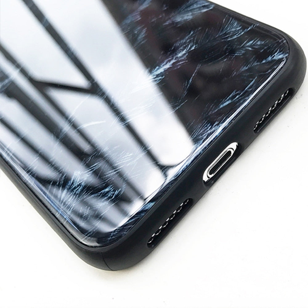 Feather Tempered Glass IPhone Case - Modern Charme.