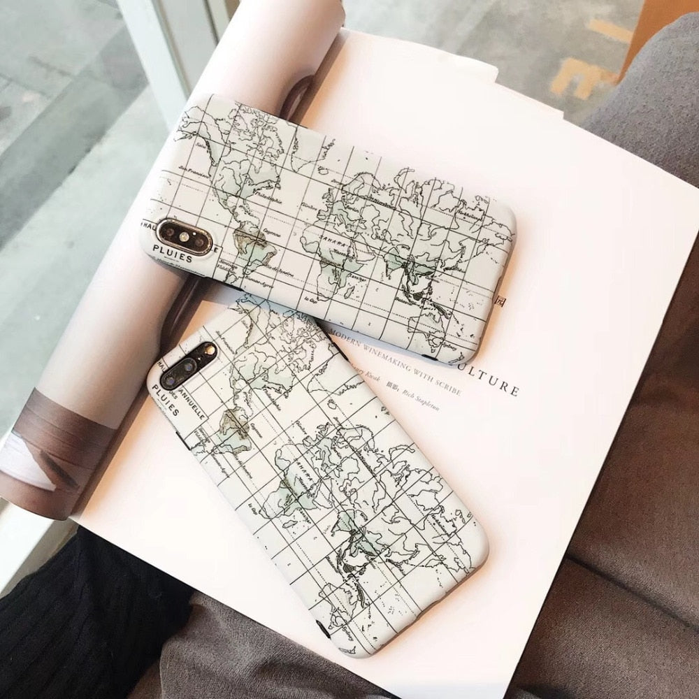 World Map IPhone Case - Modern Charme.