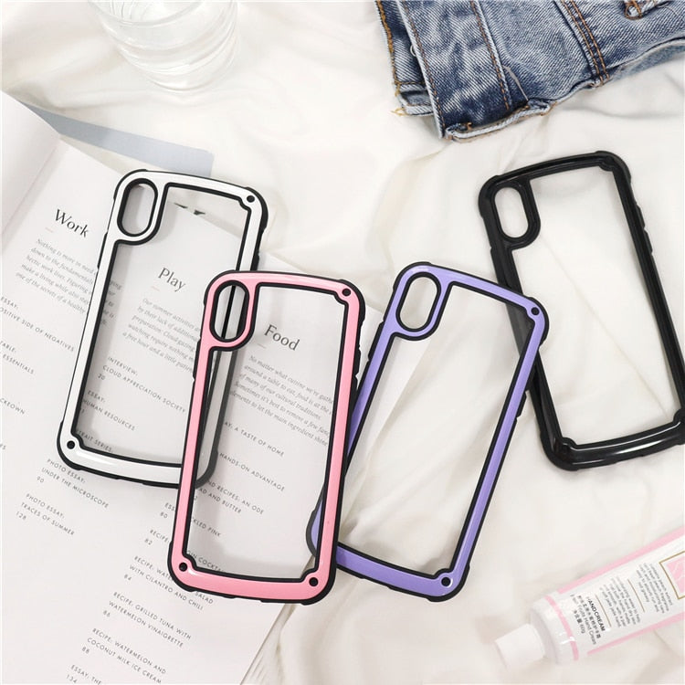 Pastel Bordered IPhone Case - Modern Charme.