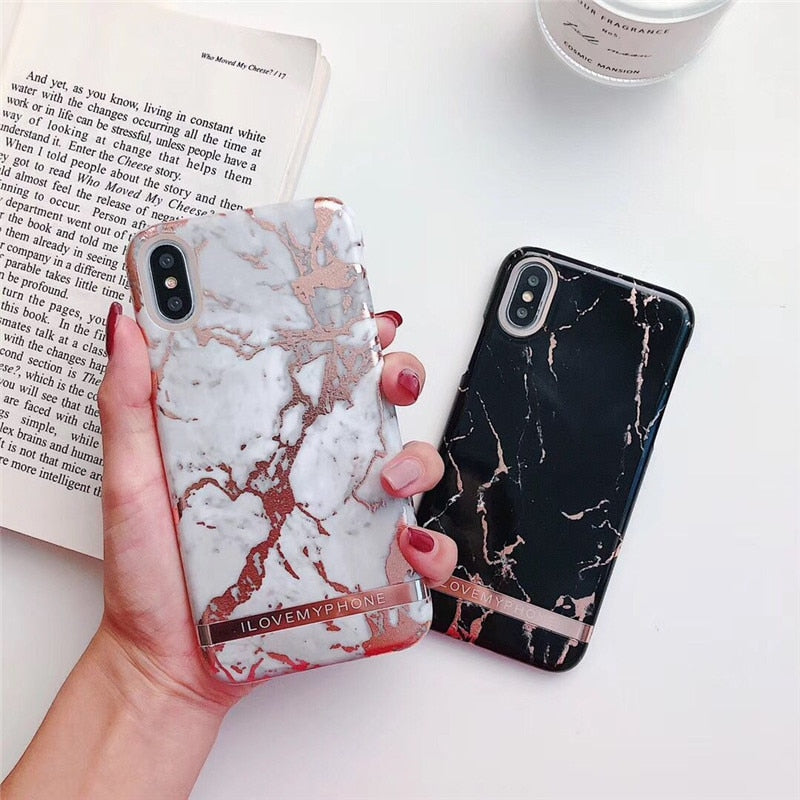 Glamour Marble IPhone Case - Modern Charme.