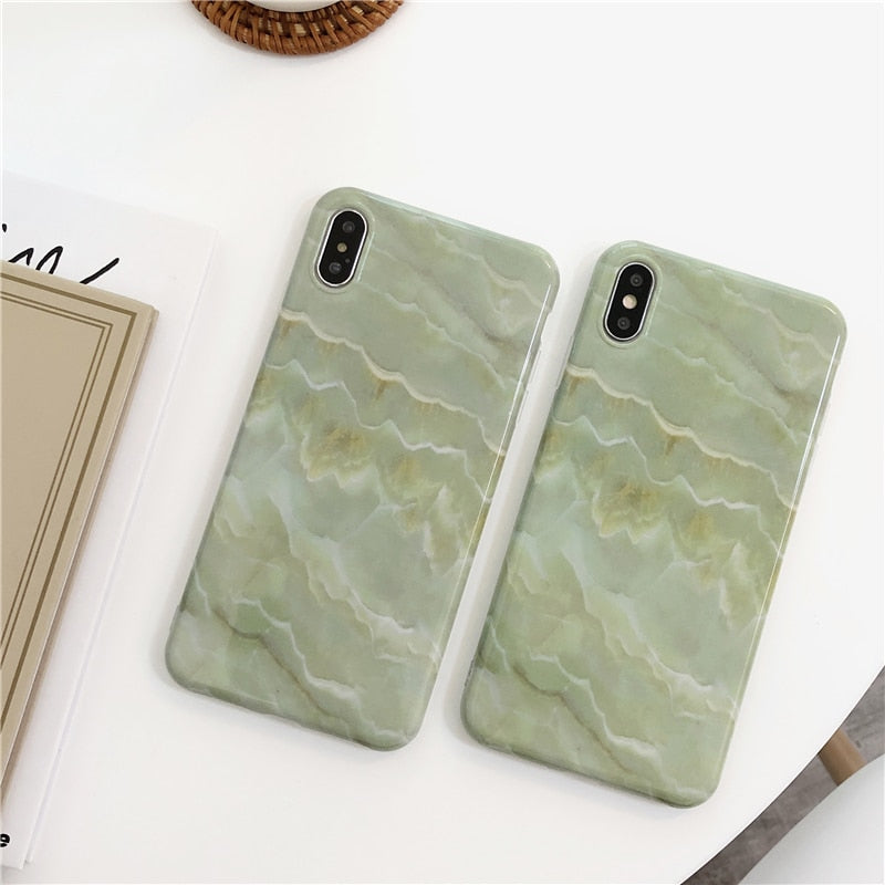 Jade Marble IPhone Case - Modern Charme.