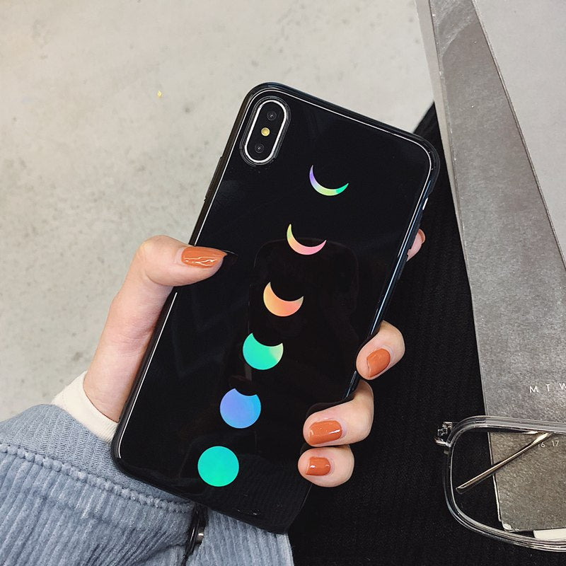 Holographic Moon Eclipse IPhone Case - Modern Charme.