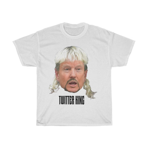 Twitter King Trump Tiger King Funny Face T-Shirt