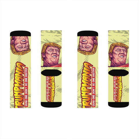 Trumpmania Donald Trump Hulk Hogan Wrestler Parody Socks