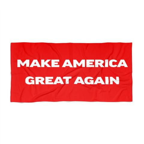 MAGA Text Beach Towel