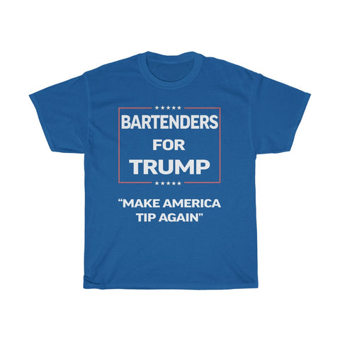 Make America Tip Again Covid-19 Charity Bartenders For Trump Tee