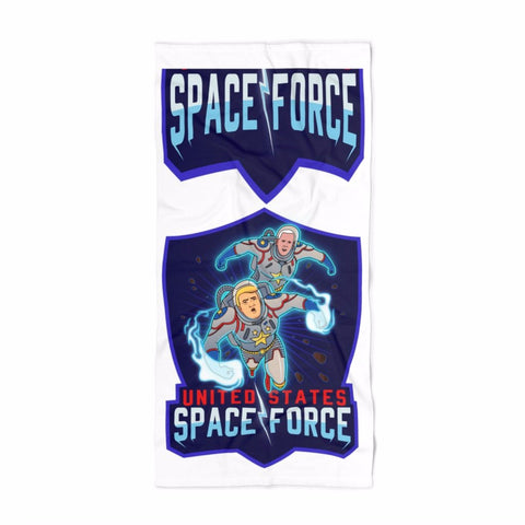 DONALD TRUMP AND MIKE PENCE SPACE FORCE DC COMIC BOOK BEACH TOWEL