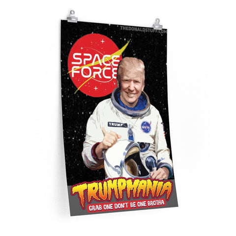 President Donald Trump Astronaut United States Space Force Poster