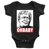 "OH! BABY! Innocent Trump ""OBEY Style"" Baby Bodysuit"