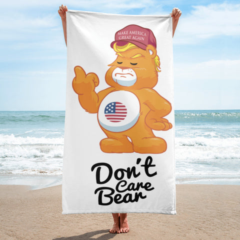 ADULT Don't Care Bear Make America Great Again Hat Funny Political Beach Towel