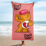 MAGA Hat Trump Supporter Don't Care Bear Funny Political Beach Towel