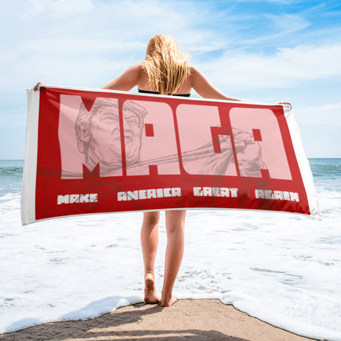 MAGA Make America Great Again Awesome Trump Political Beach Towel