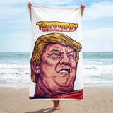 Trumpmania President Donald Trump Head Funny Political Beach Towel