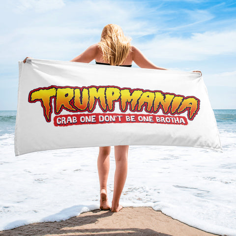 Trumpmania Grab One Don't Be One Funny President Trump Political Humor Beach Towel