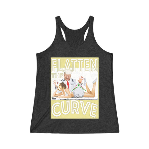 Flatten The Curve Doctor Trump Nurse Pelosi Racerback Tank