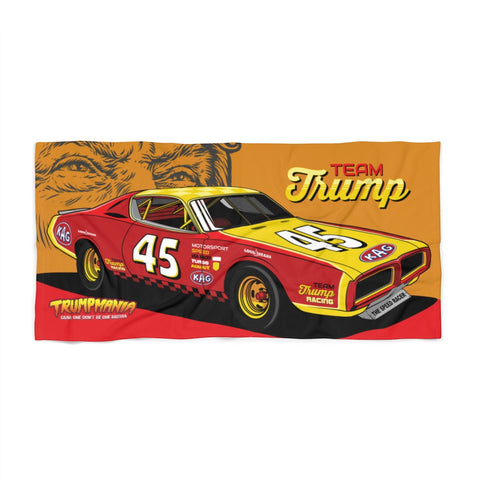 Team Trump Number 45 Nascar Racing Trumpmania Beach Towel