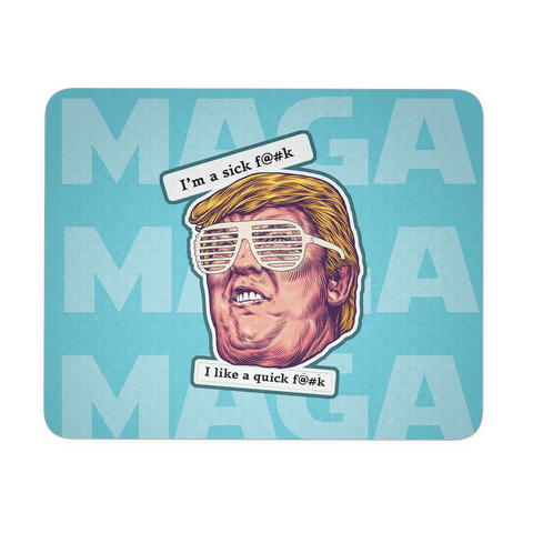 Funny Trump Kanye Glasses Political Humor Mousepad