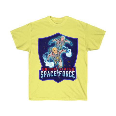 Space Force DC Comic Book Style Trump And Pence Save The Galaxy T-Shirt