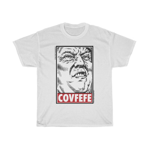 Trump Face Covfefe Obey Style T-Shirt