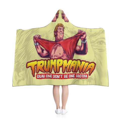 Trumpmania Hulk Hogan Donald Trump Hooded Blanket