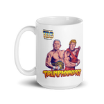 Trumpmaniacs Trump and Pence Wrestler Tag Team Trumpmania Mug