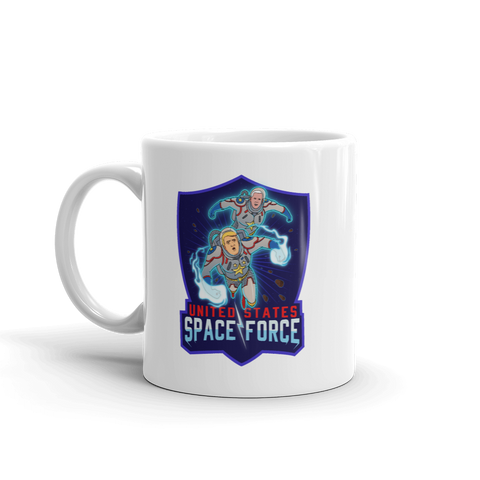 The Official Donald Trump And Mike Pence Space Force DC Comic Book Style Mug