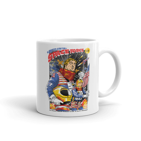 United States Space Force Trump and Pence Mug