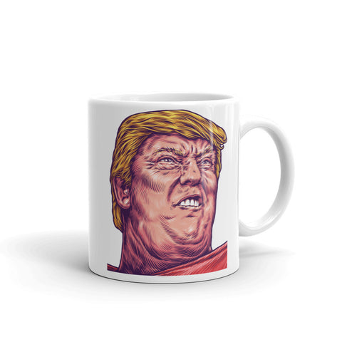 Trumpmania Funny Political Trump Face Mug