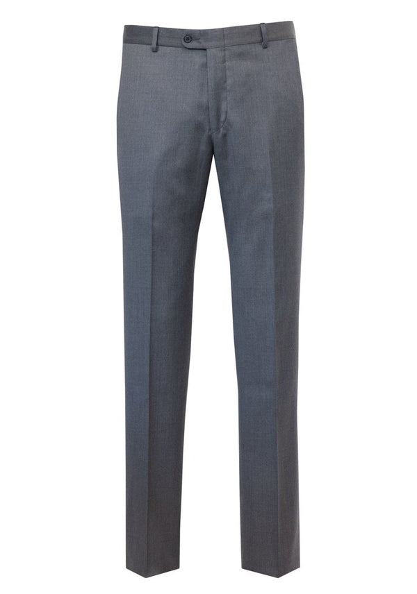 Grey Wool Flat-Front Rain System Trousers